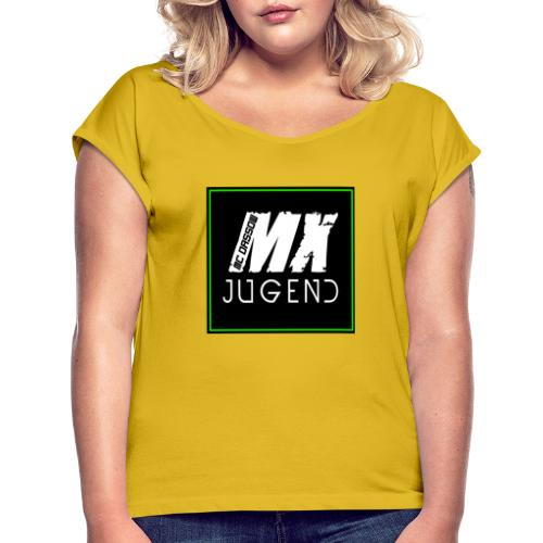 kzutufdoeiu - Frauen T-Shirt mit gerollten Ärmeln