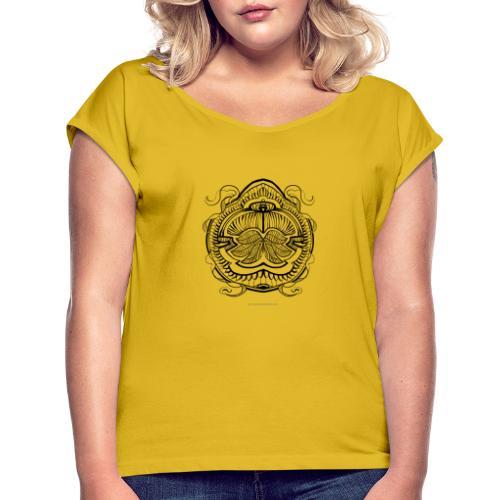 Street Mandala 5 Stefan Lindblad Illustration - T-shirt med upprullade ärmar dam
