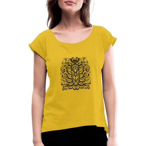 StreetMandala 19 Stefan Lindblad Illustration - T-shirt med upprullade ärmar dam