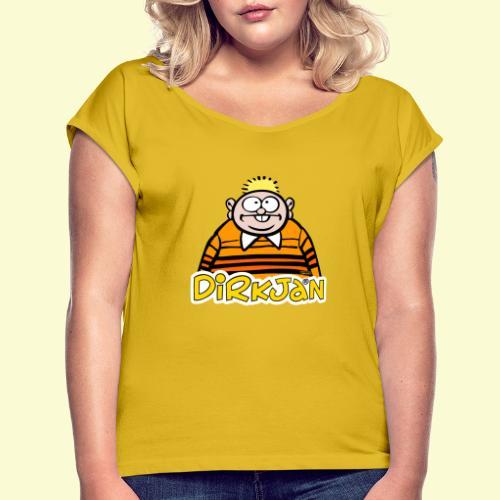 DirkjanHalfLogo - Vrouwen T-shirt met opgerolde mouwen