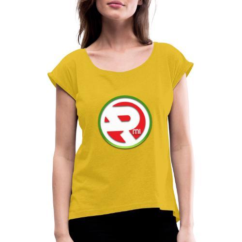 Nowe logo RMI - Koszulka damska z lekko podwiniętymi rękawami