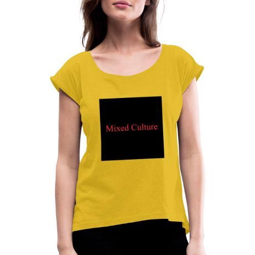Mixed Culture - Frauen T-Shirt mit gerollten Ärmeln