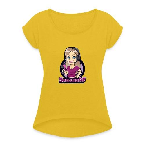 skilledaf - Vrouwen T-shirt met opgerolde mouwen