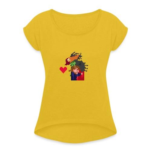Abbracciccio-06 - Maglietta da donna con risvolti