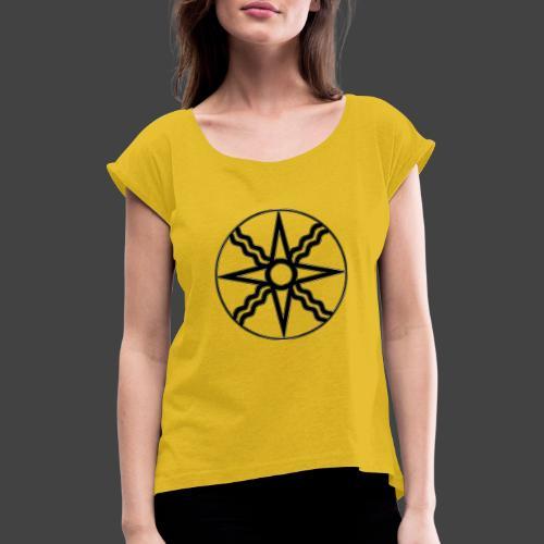Anunnaki Rune 2 - Frauen T-Shirt mit gerollten Ärmeln