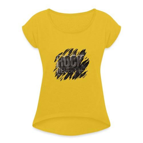 ROCK - Maglietta da donna con risvolti
