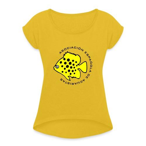 LOGO AEA - Camiseta con manga enrollada mujer