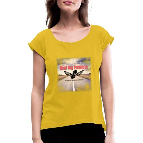 Sommer, Gras und Staub - Frauen T-Shirt mit gerollten Ärmeln