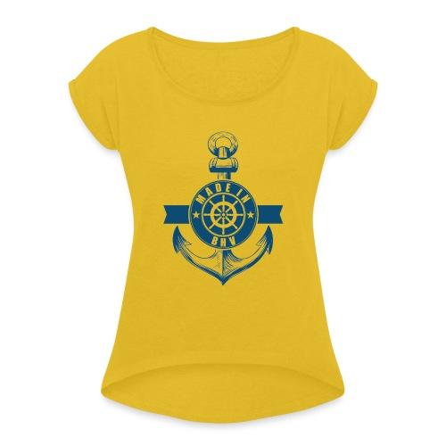 Made in BHV - Frauen T-Shirt mit gerollten Ärmeln