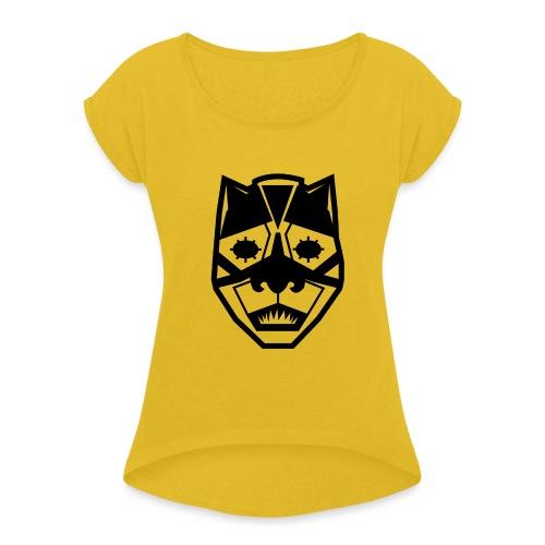 Mask Black - Maglietta da donna con risvolti