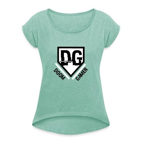 Doomgamer rugzak v2.0 - Vrouwen T-shirt met opgerolde mouwen