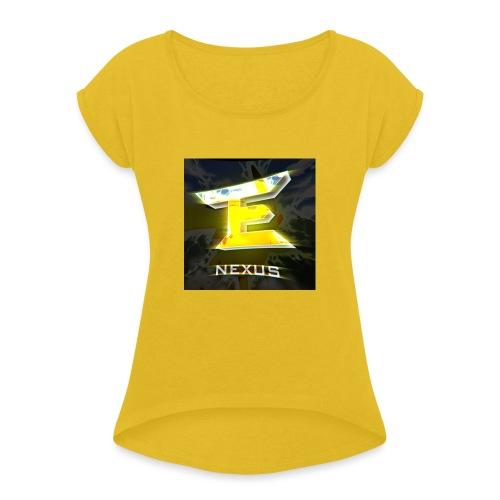 logo nexus - Frauen T-Shirt mit gerollten Ärmeln