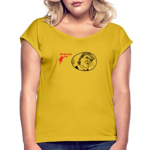 USA Elections - Vrouwen T-shirt met opgerolde mouwen