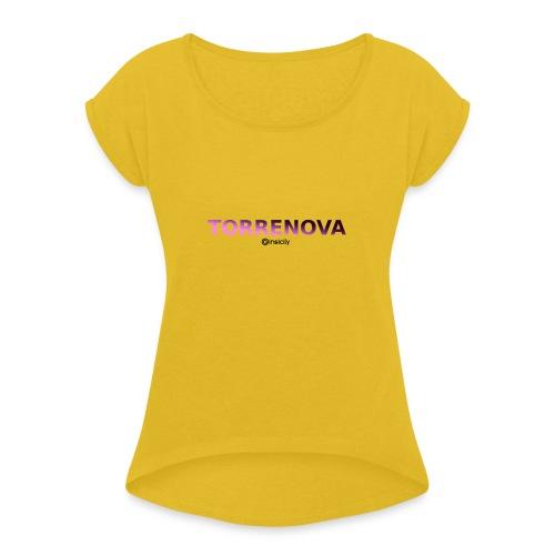 Torrenova - Maglietta da donna con risvolti