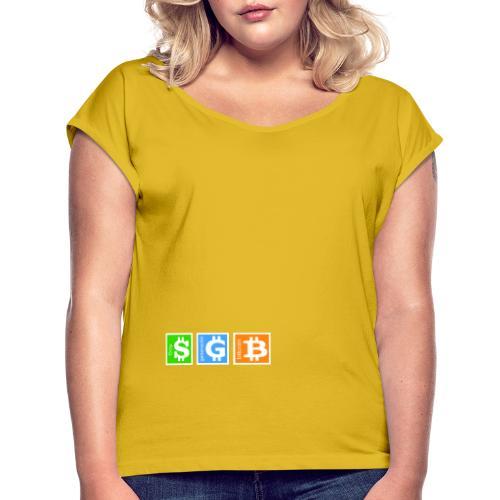 Generación Bitcoin - Camiseta con manga enrollada mujer