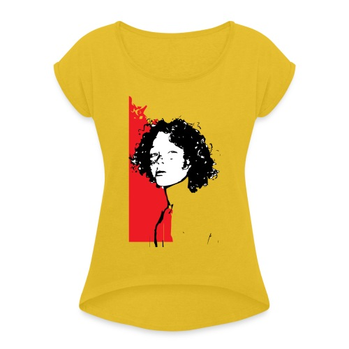 L'enfant rouge représente la terre rouge d'Afrique - T-shirt à manches retroussées Femme