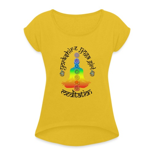 YYG Meditation - Women's T-Shirt with rolled up sleeves