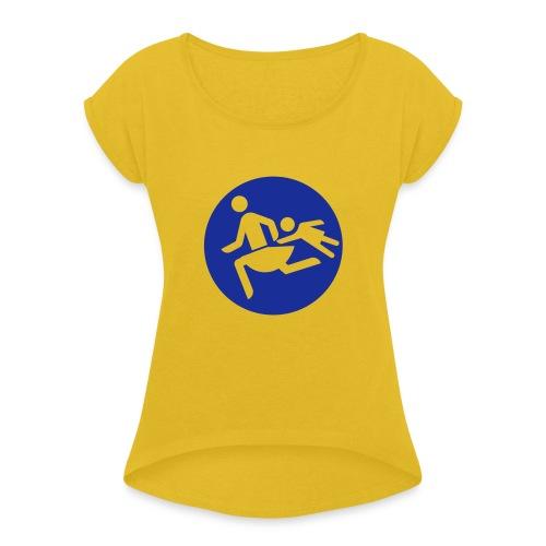 Running Mamas - Frauen T-Shirt mit gerollten Ärmeln