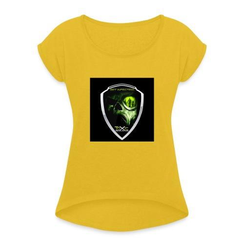 toxic-gaming-v2-2 - T-shirt med upprullade ärmar dam