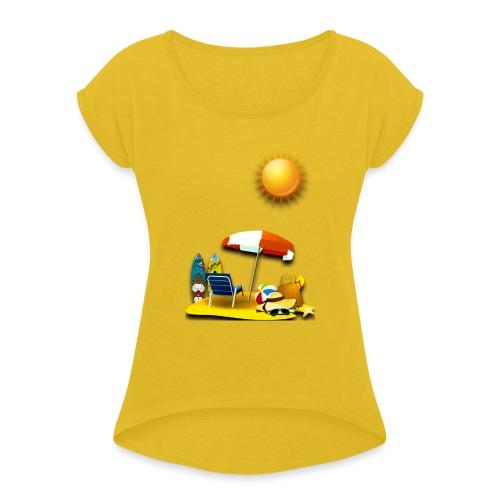 ESTATE - Maglietta da donna con risvolti