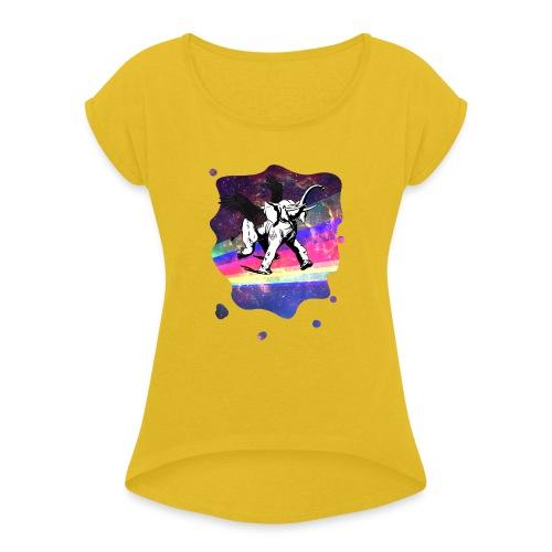 Voir voler un éléphant - T-shirt à manches retroussées Femme