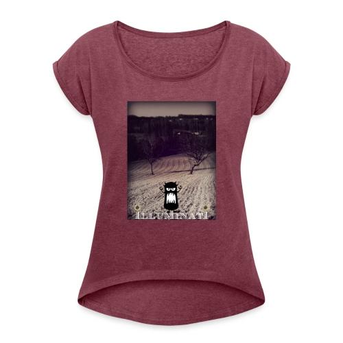 illuminati - T-shirt à manches retroussées Femme
