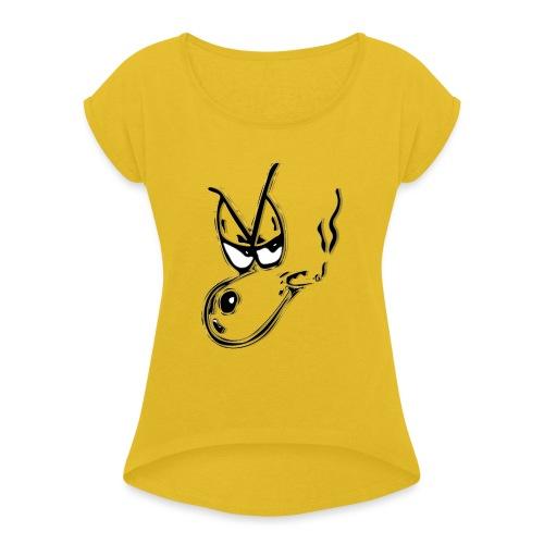 snoop - T-shirt à manches retroussées Femme