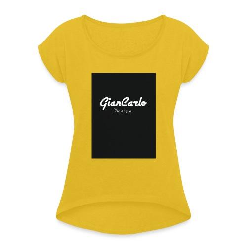 IMG 0452 - Frauen T-Shirt mit gerollten Ärmeln