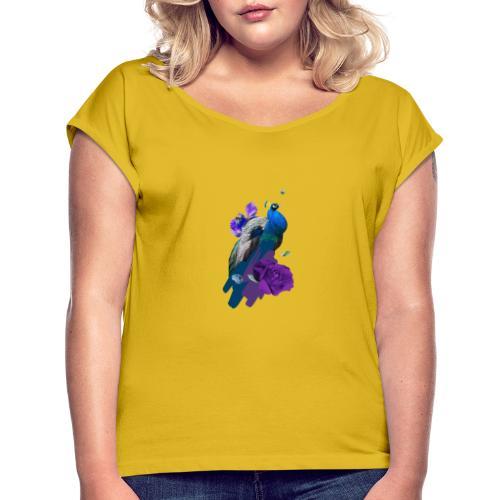 Martine - Camiseta con manga enrollada mujer
