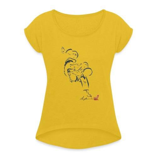 HARAI GOSHI - Maglietta da donna con risvolti