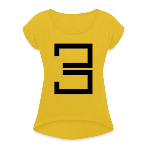 3 - Women's T-Shirt with rolled up sleeves