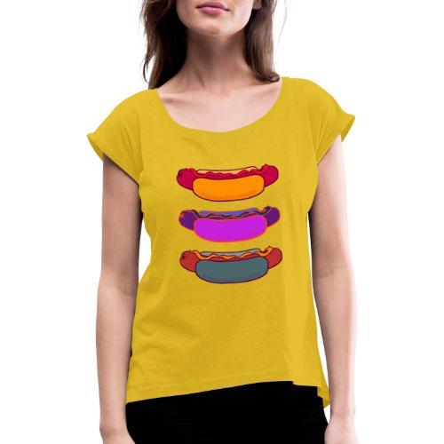 Korv - T-shirt med upprullade ärmar dam