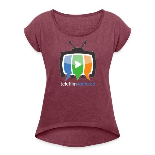 Logo Telefilm Addicted - Maglietta da donna con risvolti