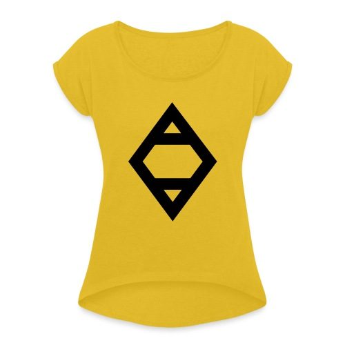 O - Women's T-Shirt with rolled up sleeves