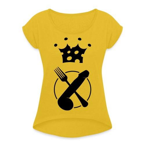 🍆🍴 - Maglietta da donna con risvolti