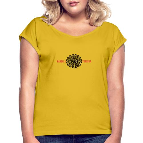 Mandala Life Camiseta T- Shirt - Camiseta con manga enrollada mujer