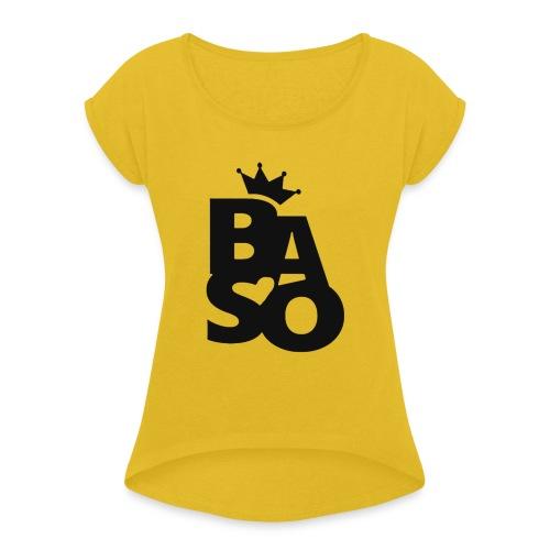 BasoLogga2020 - T-shirt med upprullade ärmar dam