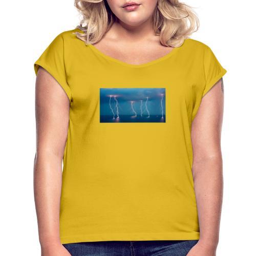 lightning - T-skjorte med rulleermer for kvinner