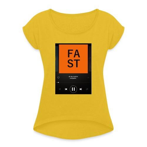 SpotyOrange - Maglietta da donna con risvolti