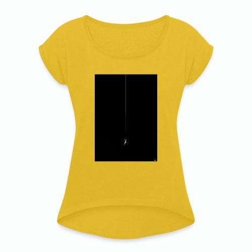 THE FALL - Frauen T-Shirt mit gerollten Ärmeln