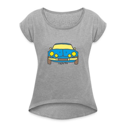 Voiture ancienne mythique française - T-shirt à manches retroussées Femme