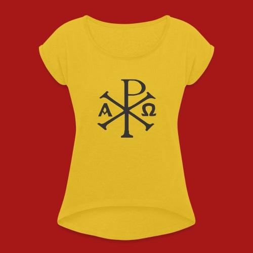 Kompasset-AP - Dame T-shirt med rulleærmer