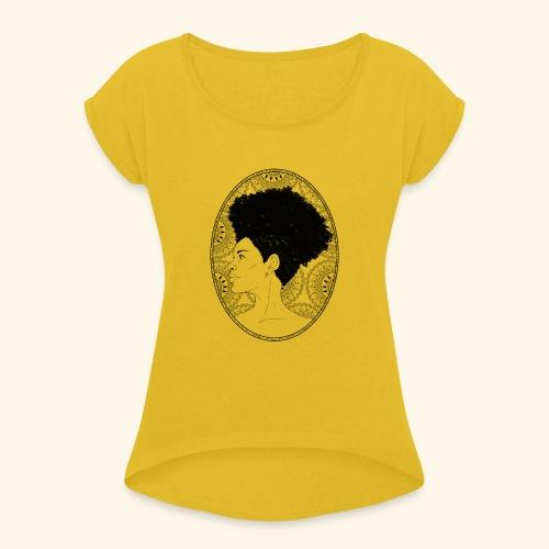 afro-mandala - Maglietta da donna con risvolti