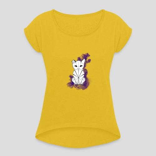 Origami cat Colo - T-shirt à manches retroussées Femme