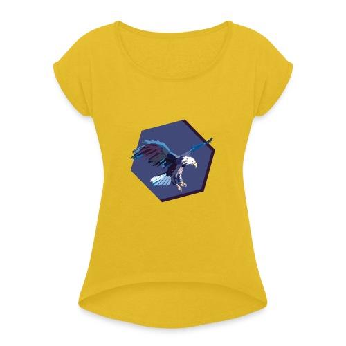 eagle - Frauen T-Shirt mit gerollten Ärmeln