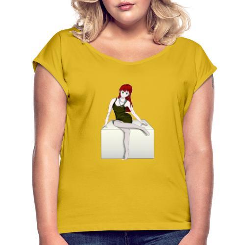 Modella - Maglietta da donna con risvolti