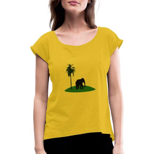 my favorite - Women's T-Shirt with rolled up sleeves