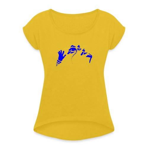 Stop (Vio) - Women's T-Shirt with rolled up sleeves