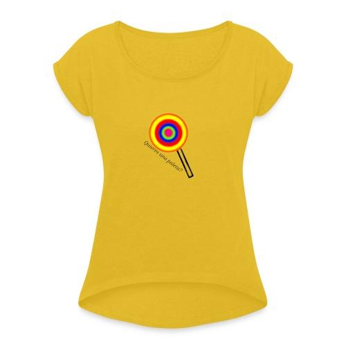Paleta - Camiseta con manga enrollada mujer