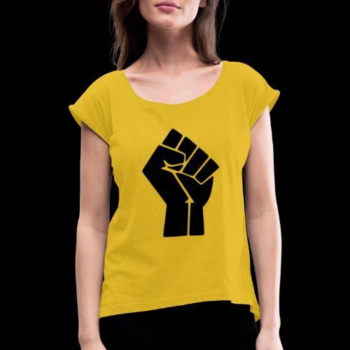 NEGRU LIVES MATTER - T-shirt à manches retroussées Femme